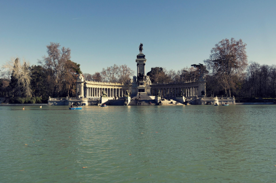 Madrid Spain The Last of Autumn in Retiro Park